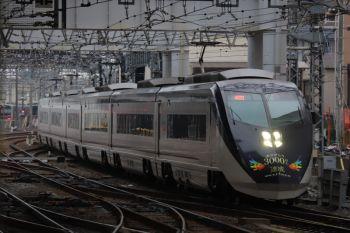 2019年1月12日 15時49分ころ、高砂、「3000万人達成」記念装飾のAE形の上り列車。