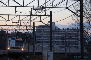 2019年1月14日、入間市~仏子、メトロ7002Fの1718レ。