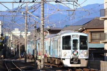 2019年1月19日8時19分ころ、仏子、到着する4009Fの上り回送列車。