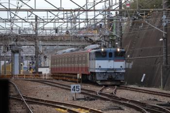 2019年1月26日 13時47分ころ、新秋津、EF65-2086に牽引され発車した西武1253F。