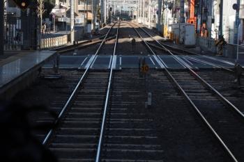 2019年1月26日、ひばりヶ丘、駅構内の飯能方。