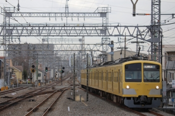 2019年1月26日 14時21分ころ、小手指、4番ホームへ到着する263Fの下り回送列車。