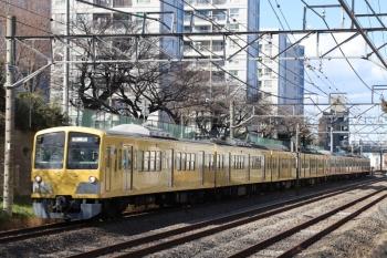 2019年1月26日、所沢~新秋津、263Fに牽引されJR連絡線を行く1253F。
