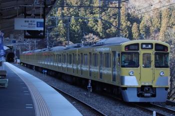 2019年1月27日 9時53分ころ、芦ケ久保、側線に到着した2087Fの下り回送列車。