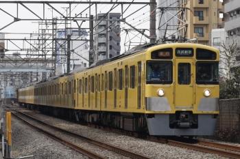 2019年2月13日、高田馬場~下落合、2455F+2057Fの2644レ。