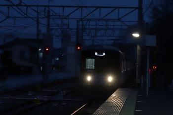 2019年3月2日 17時49分ころ。仏子。通過する20103Fの下り回送列車。