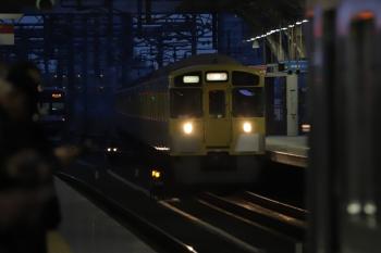 2019年3月5日 17時49分ころ。石神井公園。3番ホームに到着する9105Fの上り回送列車。保谷駅21番線に留置されていたはずの10連は池袋駅へ回送されて2173レになりました。