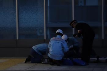 2019年3月10日 5時59分ころ。石神井公園。ちゃんと救急隊がやって来てました。誰が通報したかは知りません。