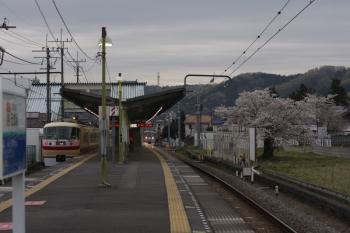 2019年4月12日 5時43分ころ。元加治。10105Fの2レと10000系の下り回送列車。