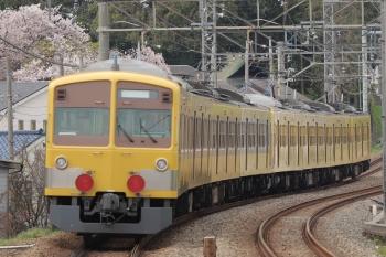 2019年4月14日 15時1分ころ。西所沢〜小手指。263Fに牽引され小手指へ向かう1249F。