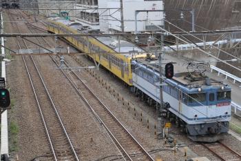 2019年4月14日 12時29分ころ。新秋津。EF65-2063に牽引され到着する1249F。