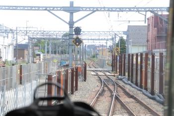 2019年5月12日 13時過ぎ。東村山。発車した国分寺線の上り列車から。