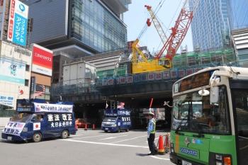 2019年5月26日。渋谷。北側から見た銀座線の高架部分。
