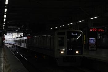 2019年6月4日 5時30分ころ。所沢。3番ホームを通過する6152Fの上り回送列車。
