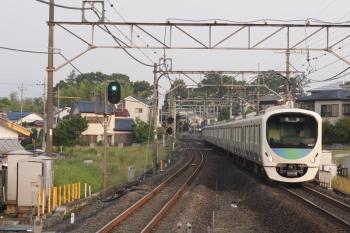 2019年6月6日 5時4分ころ。元加治。38111F+32103Fの上り回送列車。
