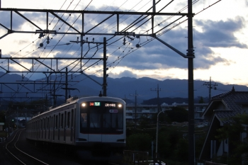 2019年6月16日。仏子〜元加治。東急5157Fの3704レ。7分ほどの遅れ。