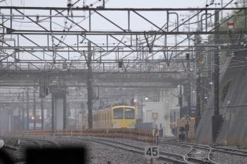 2019年7月7日 12時28分ころ。新秋津。263Fが待つ新秋津駅へ1251Fの甲種輸送列車が到着。