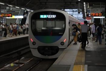 2019年7月21日 16時55分ころ。所沢。西武新宿から4番ホームへ到着した38117Fの8093レ。