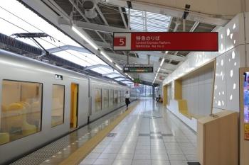 2019年8月21日。飯能。27レで到着した001-C編成が停車する特急ホーム。