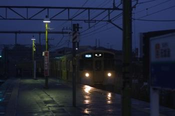 2019年8月23日。元加治。雨の中を到着する9104fの3102レ。