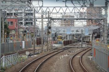 2019年9月7日。東村山。新宿線下り列車から見た、駅の南側。