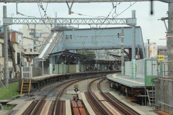 2019年9月14日。新井薬師前。下り列車から。