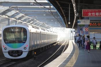 2019年9月15日 6時9分ころ。富士見台。38103Fの上り回送列車。