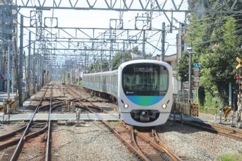 2019年9月15日 13時13分、清瀬。2番ホームへ38103Fの上り回送列車が到着しました。