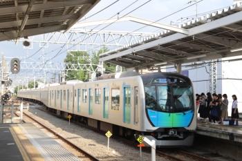 2019年9月17日。清瀬。2番ホームへ到着する40102Fの4652レ(54M運用)。