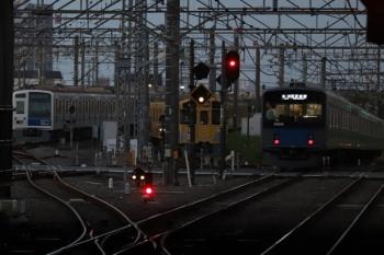 2019年9月22日。所沢。左端から、電留線で夜間帯泊した6158F・2063Fと、20155Fの新宿線 5802レ。