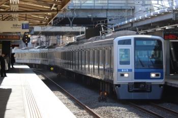 2019年10月5日 8時46分ころ。椎名町。6115Fの下り回送列車。