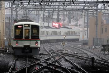2019年10月12日。池袋。西武秩父ゆきで発車した、4017F+4021Fの1003レ。通常は10連が寝ている電留線もこの日は空き。
