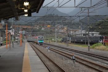 2019年10月14日 16時35分ころ。横瀬。上り方へ発車した40101Fの回送列車。