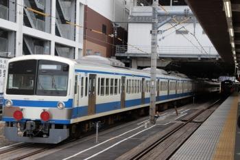 2019年10月20日 14時24分ころ。所沢。6番線に到着した1241F+263Fの下り列車。右奥は5番線から発車した40102Fの2137レ。