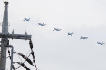 2019年11月3日 13時56分ころ。武蔵藤沢。ブルーインパルスの飛行機。