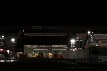 2019年11月3日 21時前。西武球場前駅が最寄りの野球場。
