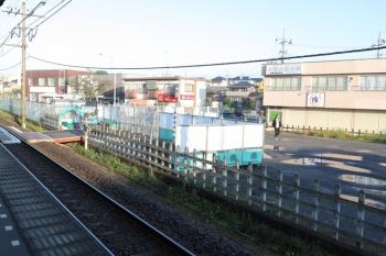 2019年11月4日 7時ころ。元加治駅前。