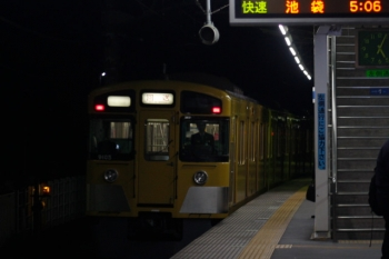 2019年11月6日 5時4分ころ。元加治。9105Fの上り回送列車。