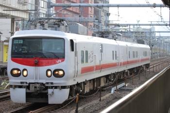 2019年11月11日 11時36分ころ。高田馬場。「East i-E」ことE491系電車。