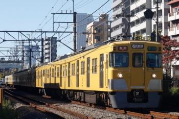 2019年11月12日。高田馬場〜下落合。2411F+2001Fの2644レ。