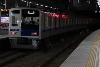 2019年12月3日。所沢。3番ホームを通過する6154Fの上り回送列車。