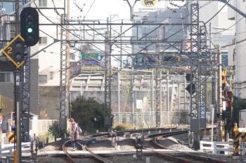 2019年12月16日 12時19分ころ。高田馬場〜目白間の山手貨物線を、JR東日本の新型特急車両 E261系・サフィールが南へ向かいました。
