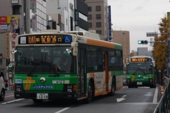 2019年12月17日 8時17分ころ。目白。新宿駅西口ゆきの都バス(手前)と池袋駅東口ゆき都バス。