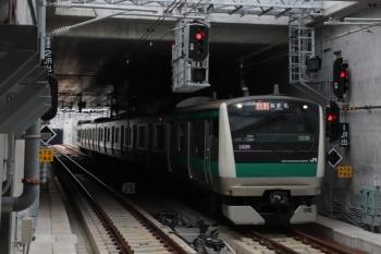 2019年12月26日 11時13分ころ。羽沢横浜国大。JRから直通の特急 海老名ゆき。