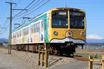 2020年1月1日 10時55分ころ。西吉井〜吉井。「ぐんまちゃん列車」のクモハ504ほかの高崎ゆき。