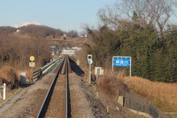 2020年1月1日。丹荘〜群馬藤岡。神流川の橋梁の丹荘駅側。