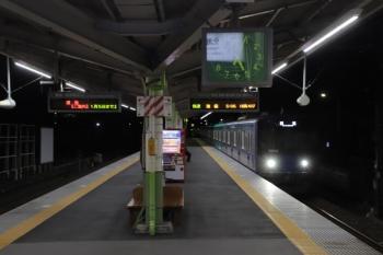 2020年1月1日 5時4分ころ。元加治。通過する20102Fの上り回送列車。