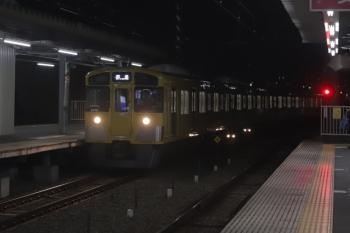2020年1月6日 5時48分ころ。保谷。2番ホームへ到着する2077Fの上り回送列車。