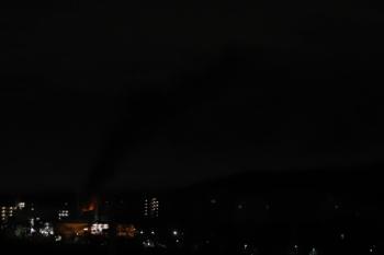2020年1月6日 22時38分ころ。仏子駅近くの火事の様子。