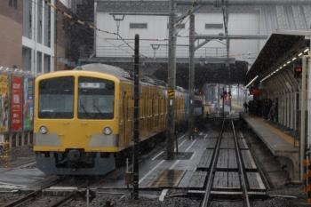 2020年1月18日。所沢。6番線で留置中の263F+1251F。5番ホームへ到着する下り列車から。